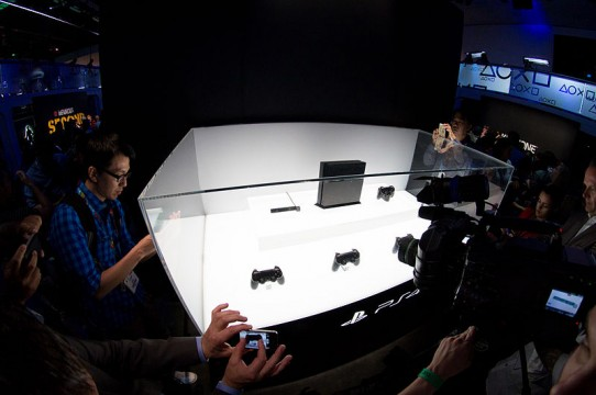 Playstation 4 display at E3 2013