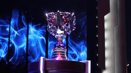 The 2013 League of Legends World Championship Finals Trophy