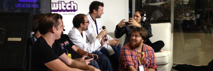 Spearhead Games streams Tiny Brains on Twitch during PAX Prime.